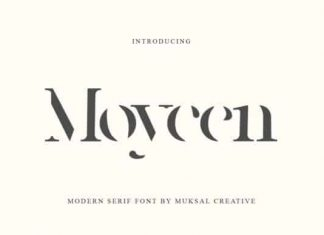 Moycen Display Font