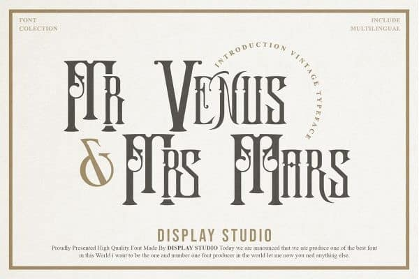 Mr.Venus & Mrs.Mars Blackletter Font