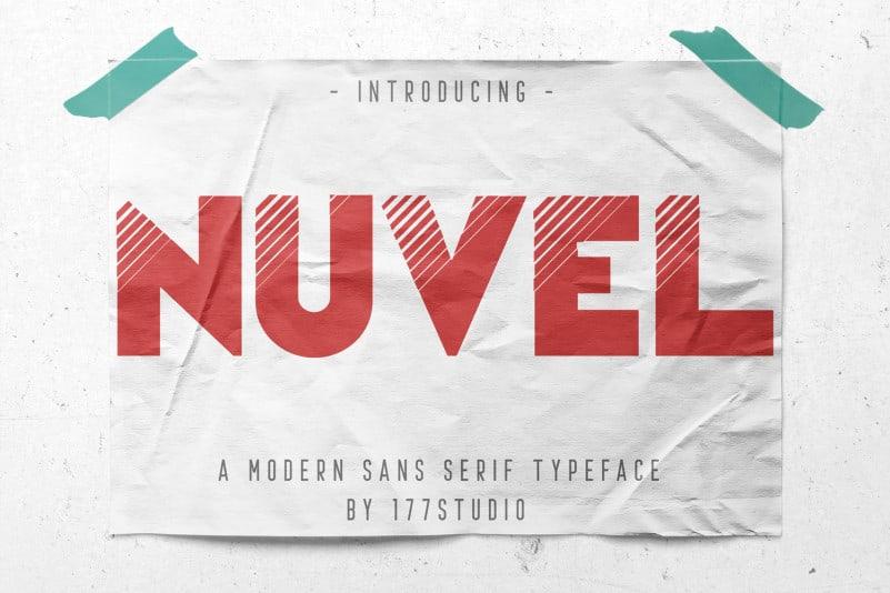 Nuvel – Modern Sans Serif Font