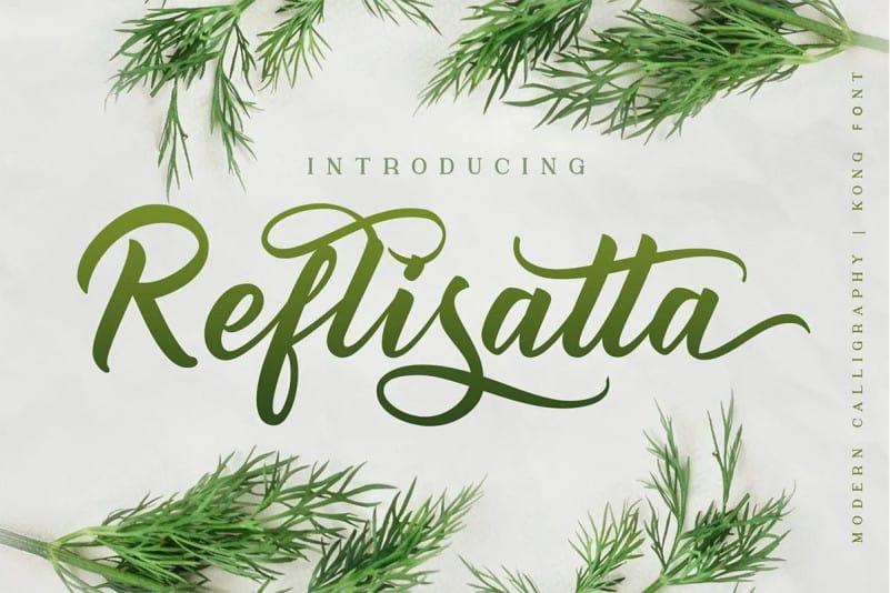 Reflisatta Script Font