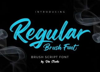 Regular Brush Font