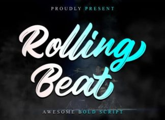 Rolling Beat Brush Font