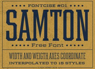 Samton Display Font