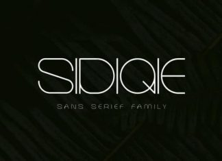 Sidiqie Display Font