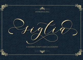 Sigtia Calligraphy Font