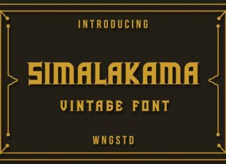 Simalakama Vintage Display Font