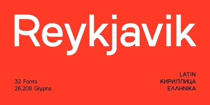 SK Reykjavik Sans Serif Font