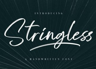 Stringless Brush Font