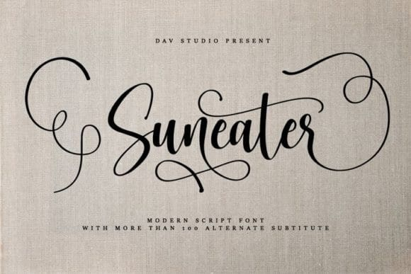 Suneater Calligraphy Font