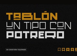Tablón Display Font