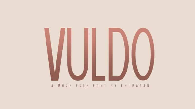 Vuldo Sans Serif Font