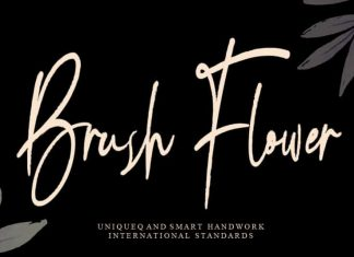 Brush Flower Handwritten Font