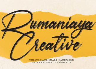 Rumaniaya Handwritten Font