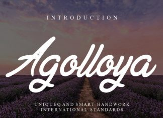 Agolloya Handwritten Font