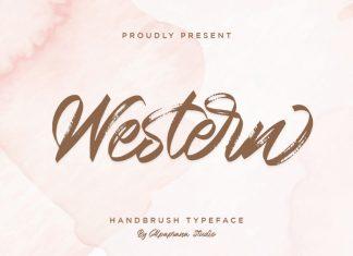 Western Script Font