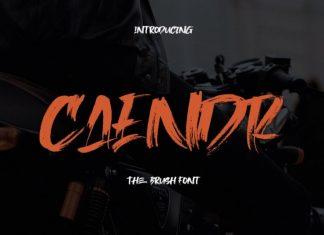 Caendr Brush Font