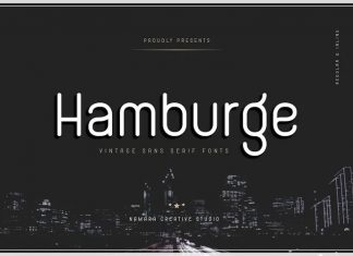 Hamburge Sans Serif Font