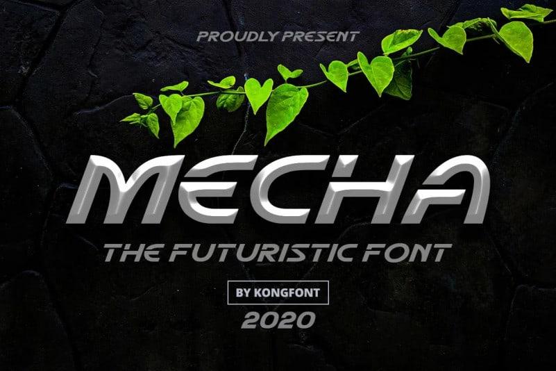 Mecha Display Font