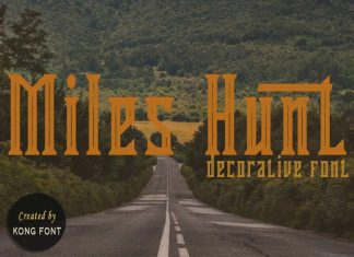 Miles Hunt Display Font