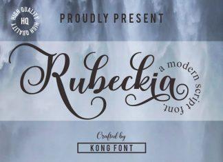 Rubeckia Calligraphy Font