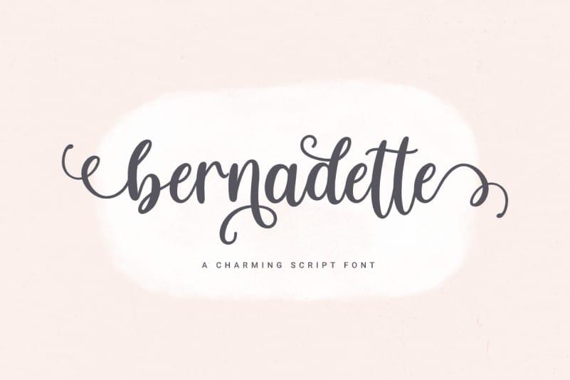 Bernadette Calligraphy Font