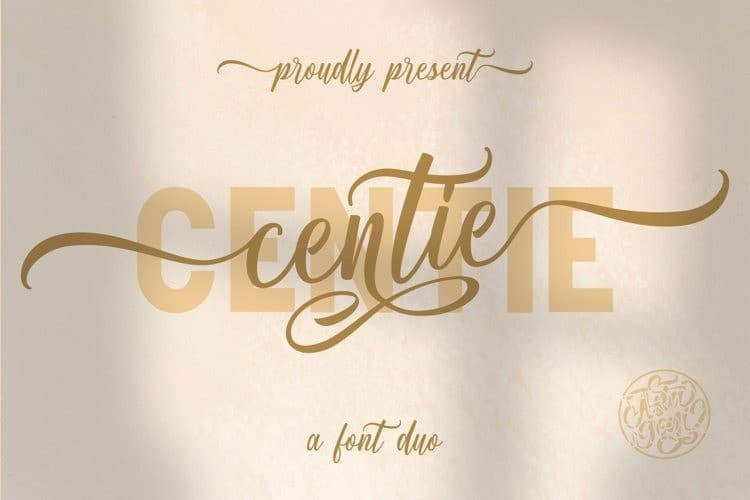 Centie Calligraphy Font