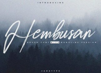 Hembusan Script Font
