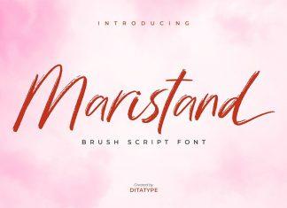 Maristand Brush Font