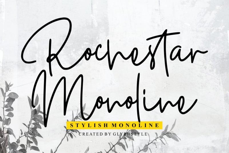 Rochestar Stylish Handwritten Font