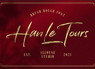 Han Le Tours Brush Font