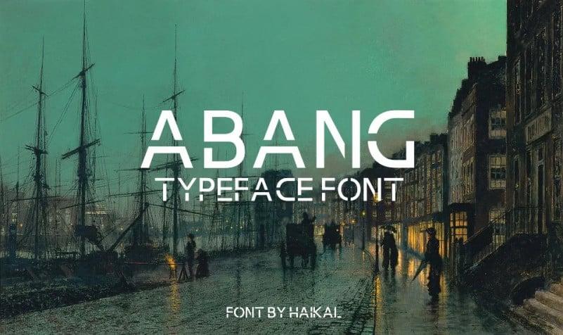 Abang Display Font