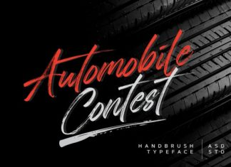 Automobile Contest Brush Font