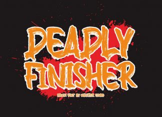 Deadly Finisher Brush Font