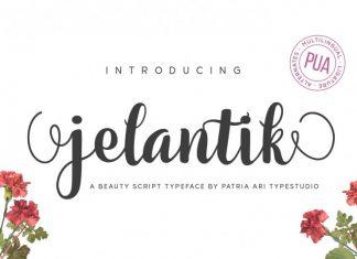 Jelantik Script Font