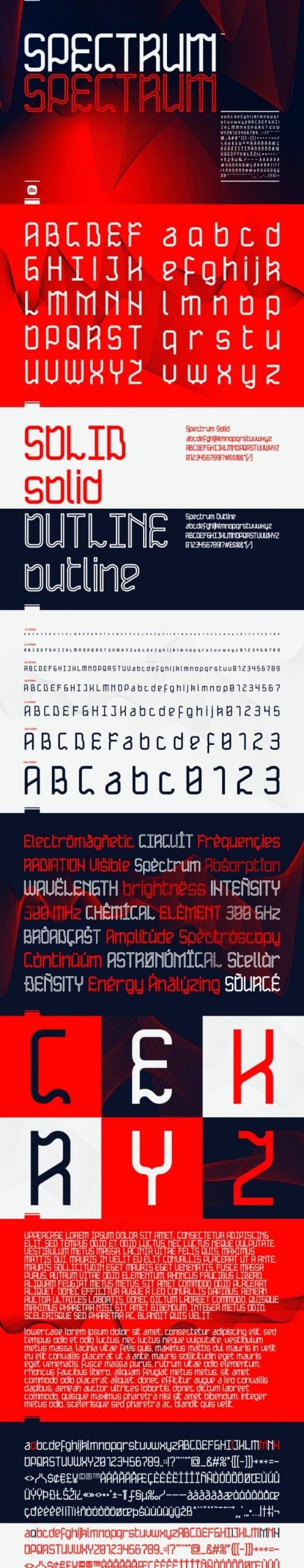 Spectrum Display Font