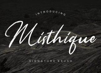 Misthique Brush Font
