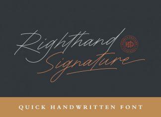 Righthand Handwritten Font