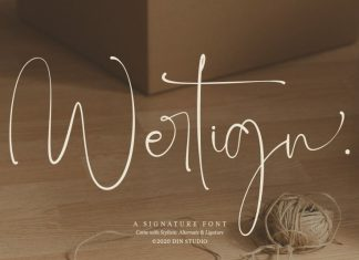 Wertign Script Font