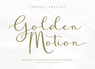 Golden Motion Font