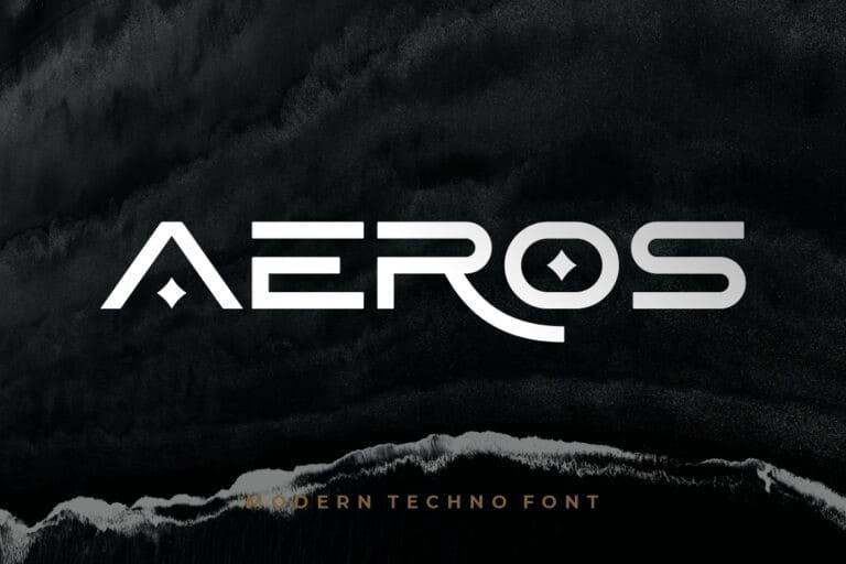 Aeros Display Font