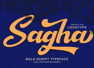 Sagha Script Font