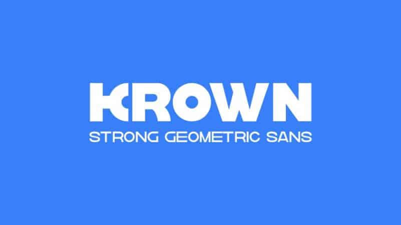Krown Sans Serif Font Family