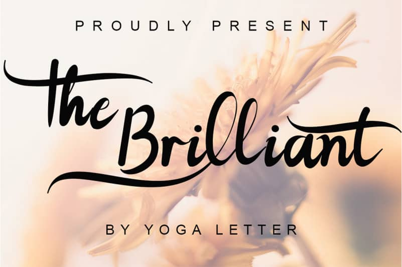 The Brilliant Calligraphy Font