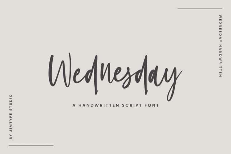 Wednesday Script Font