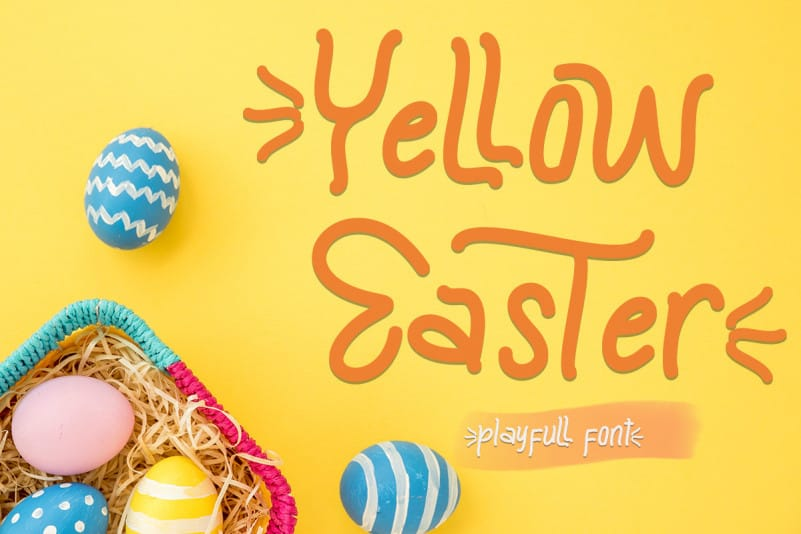 Yellow Easter Display Font