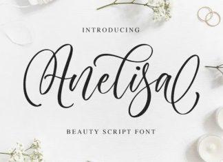 Anelisa Calligraphy Font