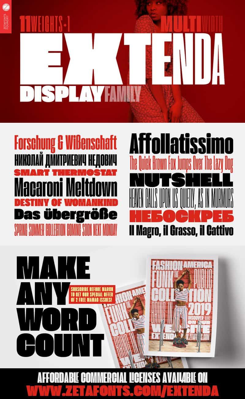 Extenda Font Family