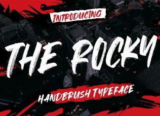 The Rocky Brush Font