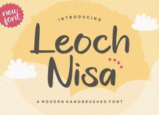 Leoch Nisa Brush Font