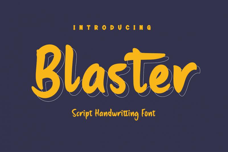 Blaster Display Font